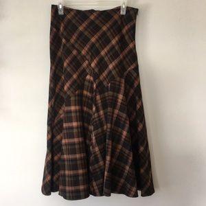 Jessica Vintage Plaid Skirt Grunge Size US8